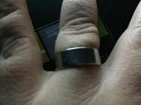 Size 9 Wide Titanium Unisex Wedding Band. Comes in a