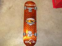 I have an almost new orange county choppers skateboard