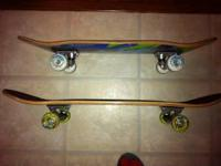 UP FOR SALE ARE TWO SKATEBOARDS, OVERALL IN GOOD