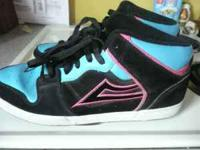 Size 12 Pink/Blue & Black Lakai Sneakers Good condition