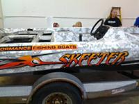 This listing is for a custom wrapped skeeter bass boat.