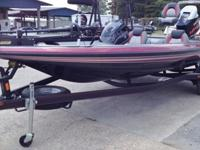 2014 Skeeter TZX195 bass boat powered by a Yamaha 175