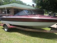 16 ft. 1986 glasstream 140 mercruiser ski boat and