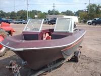 Ski Boat with trailer, engine does not run.  Sold as
