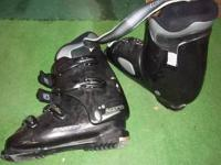 Size 12 ski boots, $20.00 - used 2 seasons. Cash only,