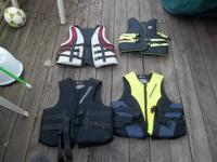 Adult small/medium vests - $15.00 each. Ocean Pacific