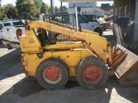 MID 80'S CASE 1737 SKID LOADER, 4 CYL-GAS, NEW SEAT,