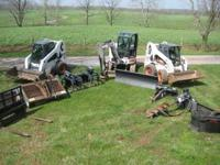excavator and skid loaders with attachments for hire
