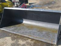 "Skid Steer Attachment - 84"" Concrete Bucket. Length: 84"