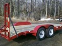 12000 GVW 18FT Skid Steer Trailer....New! LED lighting,