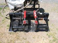 Skid steer grabble bucket dual piston claw with solid