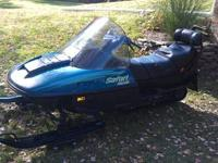 I have a 94 Ski-doo Safari Deluxe 380 with 2-up seating