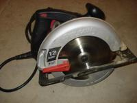 "7 1/4"" Skillsaw for sale. It works great, but don't"