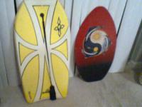 On the Left is a Professional Hard foam Boogie board