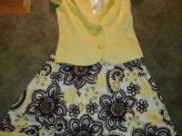 2 skirt n jacket outfits size 7 .. cute summer