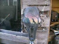 i have a cow head skull painted, its pretty cool if