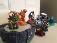 Lot of Skylanders.  12 overall pieces consisting of a