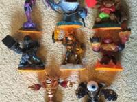 All eight Skylander Giants in excellent condition.