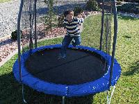 The Skywalker 8 foot Trampoline and Enclosure Combo
