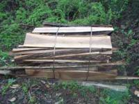 Sawmill slabs all hardwoods bundled in 5-8 ft bundles