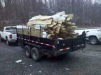 hardwood uncut slab fire wood delivered in dump load of