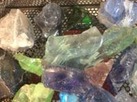 Slag Glass $2 and up Lime, Purple, White, Blue, More