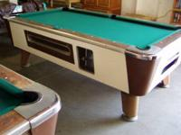 Slate 7' Valley coin operated pool table has been