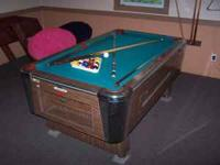 "American 6' pool table and acc. It measure 6'3""x3'7"""