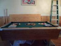 Selling for a friend A Used Slate pool table with green
