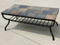 Gorgeous slate top coffee table in exceptional
