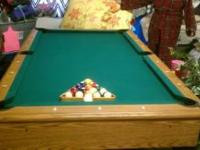 Slate top pool table with accessories $900 call or text