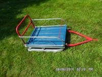 HEAVY DUTY SLED FOR BEHIND SNOW MOBILE OR ATV. ALL