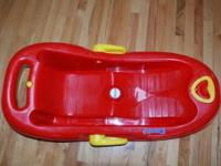 Red Eurosled snow flipper sled - great condition, used