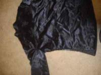 """Imperial Dress"" brand jacket. Black and silky with a"