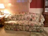 Sleeper Sofa, floral print, nice condition. $125