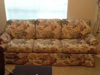 Sofa is in decent condition and is very comfortable,