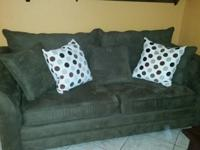 Chocolate Suede Sleeper sofa and matching chaise