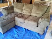 Offering a sofa bed with matching chair. Both are a