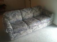 Used sleeper sofa with hideaway mattress in good