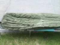 Extreme cold sleeping bag- military, polar fiber