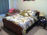 Full size sleigh bed and mattress in great condition.