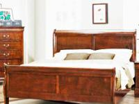 ALL WOOD, NO PLASTIC sleigh bed-includes Headboard,