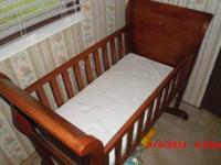 Brand New Solid Wood Sleigh Bed Style Baby