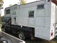 slide in camper,doesnt leak, good for hunting or just