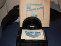 2X2 WHISPER-MATIC SLIDE PROJECTOR   EVERYTHING WORKS