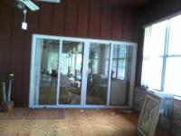 WE AE SELLING SOME SLIDING GLASS DOORS FROM A