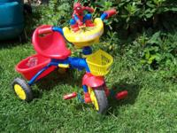 This Spiderman tricycle would make a good birthday