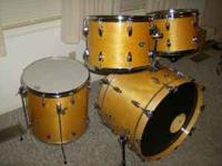 5 piece set of Slingerland drums.22 inch kick