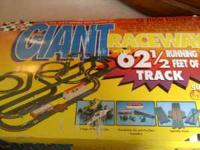 team afx giant raceway set.62 1/2 feet plus several