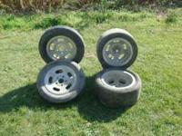 I am selling four slotted wheels one pair are ANSEN